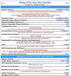 boeing checklist